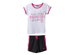 Girls Tee & Short Set - Princess