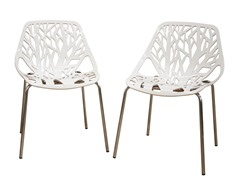 Birch Sapling White Chair Set of 2