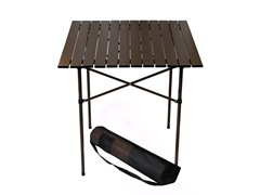 Tall Aluminum Table, Brown