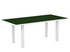 Euro Dining Table, White/Green