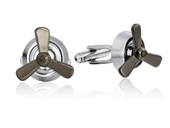 SD Man Propeller Cufflinks