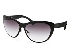 Women's Sunglasses, Black/Dark Purple Gradient