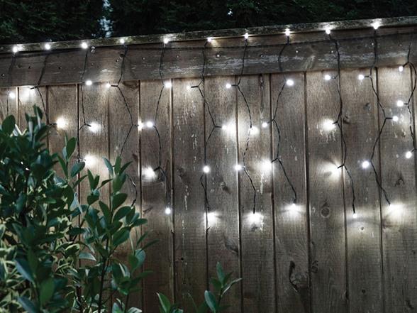 Long Curtain String Lights : Solar Curtain DROPLITE String Lights