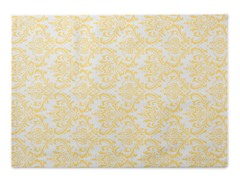 Small Damask Placemat S/4-Yellow
