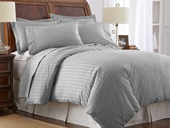 500TC 100% Pima Cotton Pillowcases-Standard-Grey