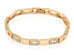 Gold Swarovski Elements Square Tennis Bracelet