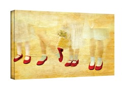Ruby Slippers Wrapped Canvas (3 Sizes)