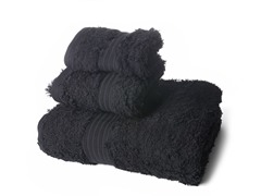 Terra Loop Cotton Towel 3Pc Set-Black