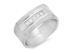 Men's Ring w/ Glitter & Diamond Accent