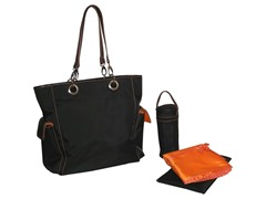 Kalencom Maxi Tote - Black & Orange