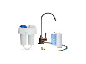 2-Stage Water Filter with Bronze Faucet