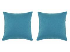 Sensations Teal 17x17 Pillows S/2