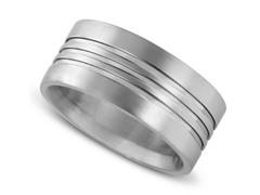 Grooved Titanium Ring