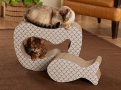 Copy Cat Cardboard Cat Scratcher - Taupe