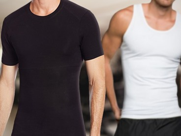 Powerbody Men's 2 Pack Shapewear Shirts