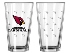 NFL Satin Etched Glass 2-Pack (8 Teams)