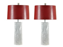Quoise Gloss White Lamp - Set of 2