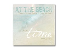 "Not Time Wasted Canvas Wall Art 16""x16"""