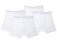 Kings Underwear Boxer Briefs 4-Pack, White