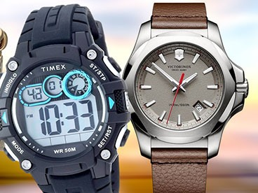 Swiss Army and Timex Watches