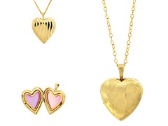 10kt Gold Reversible Multi Heart Locket