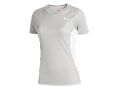 Puma Women's TB Short Sleeve, White/Grey