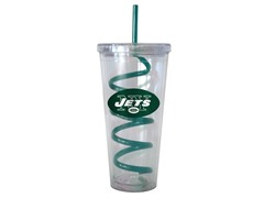 NFL New York Jets Swirl Straw Tumbler