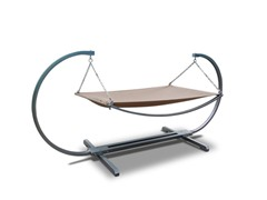 Steel Stand and Polyester Hammock Bed
