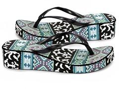 MUK LUKS® Women's Wedge Flip Flop, Blue
