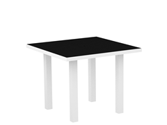Euro Dining Table, White/Black