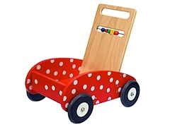 Dushi Wooden Push Car with Activity Bar