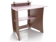Pink & Chocolate Student Desk + Monitor Shelf