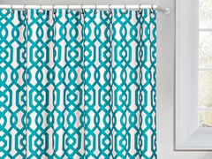 Ashmont Printed Shower Curtain-Emerald Green