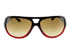 Aviator Sunglasses, Black/Red