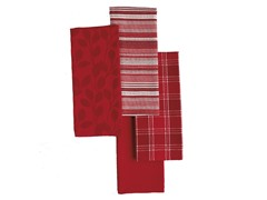 Basics Dishtowels-Set of 4-Tango Red