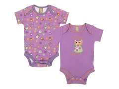 Jelly Bean Owl Bodysuit 2-Pack (0-3)