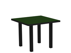 Euro Dining Table, Black/Green