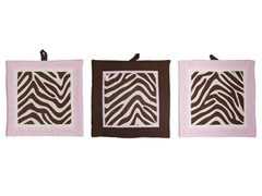 Zara Zebra 3-Piece Wall Hangings Set