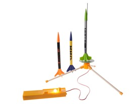 Estes 3 Rockets + Mini Launch Pad & Controller Bundle
