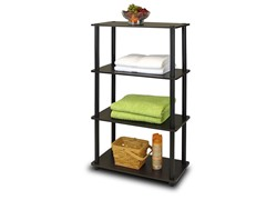 Turn-N-Tube 4-Tier Shelf  Espresso/Black