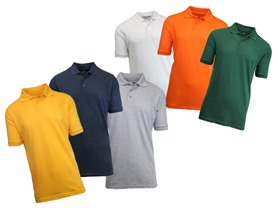 3-Pack Pique Polos
