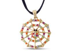 Swarovski Elements Spider Web Necklace