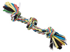 Tuggin' Tees Rope Toy, 3 Knot - 15""