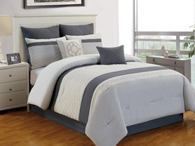 Verina 8PC Comforter Set - 4 Colors - 3 Sizes