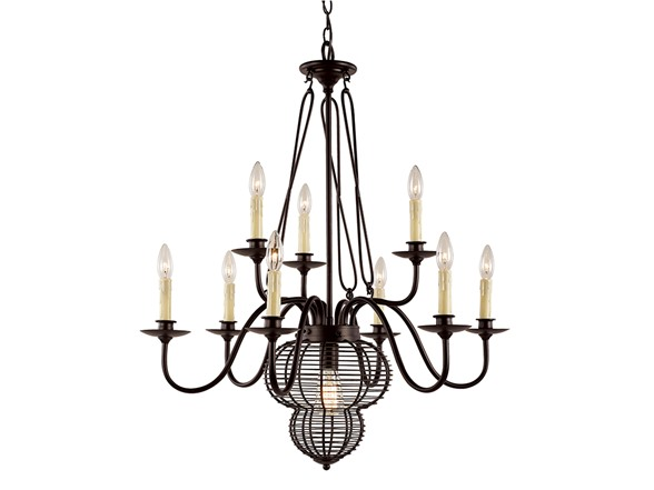 10 Light Adjustable Chandelier