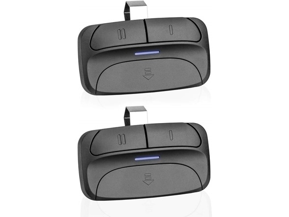 Refoss Garage Door Opener Remote 2 Pack Purple Learn Button Compatible with Liftmaster Chamberlain Craftsman 371LM 373LM Security+ 315MHz