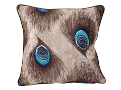 Peacock Feathered 18-inch Pillow