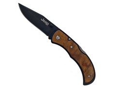 Jeep Burl Maple Handle Folding Knife