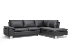 Toria Black Modern Sectional Sofa