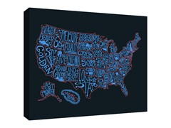 Nickname the State Gallery Wrapped Canvas 2-Sizes